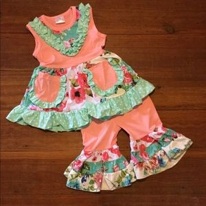 Other - 2pc bubblegum ruffle outfit